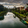 Houses along a canal in Venice Beach, Los Angeles, California. — Stock Photo #66346789