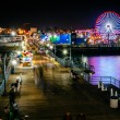 The Santa Monica Pier at night, in Santa Monica, California. — Stock Photo #66847249
