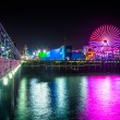 The ferris wheel at night, on the Santa Monica Pier in Santa Mon — Stock Photo #66847319