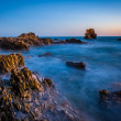 Long exposure of water and rocks at twilight, at Little Corona B — Stock Photo #67530031