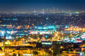 Night view from Hilltop Park, in Signal Hill, Long Beach, Califo — Stock Photo
