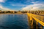 The Belmont Pier in Long Beach, California. — Stock Photo