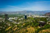 View of distant mountains and Universal City from the University — Stock Photo