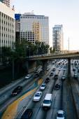 View of the 110 Freeway from the 5th Street Bridge, in downtown  — Photo