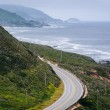View of mountains along the coast and Pacific Coast Highway, at — Stock Photo #70862543