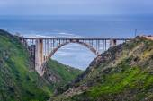 View of the Bixby Creek Bridge, in Big Sur, California. — Stock Photo