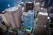 View of skyscrapers in downtown, in Seattle, Washington. — Stockfoto