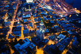 View of the Pioneer Square area at night, in Seattle, Washington — Stockfoto