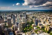 View of the downtown skyline, in Seattle, Washington. — Stockfoto