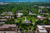 View of University of Montana from Mount Sentinel, in Missoula,  — Stockfoto