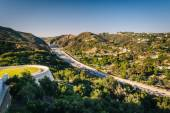View of the 405 Freeway from the Getty Center, in Brentwood, Los — Stock Photo