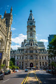 City Hall and Broad Street in Center City, Philadelphia, Pennsyl — Stock Photo