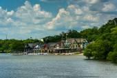 View of Boathouse Row, in Philadelphia, Pennsylvania. — Stock Photo