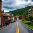 Historic buildings and shops on High Street in Harper's Ferry, W — Stock Photo #76825447