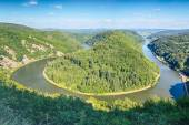Hairpin Curve in the River Saar — Stock Photo