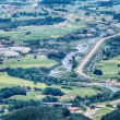 German Highway Passes Through a Valley — Stock Photo #52759353