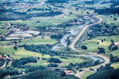 German Highway Passes Through a Valley — Stock Photo