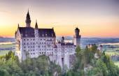 Neuschwanstein Castle by Sunset — Stock Photo