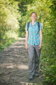 Active Woman Hiking in Nature — Foto de Stock