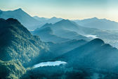 Summer Alpine Scenery - Schwansee and Hills — Stock Photo
