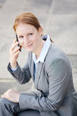 Female Business Leader Calling by Phone — Foto de Stock