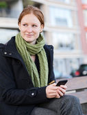 Mobile Communication in the City — Stock Photo