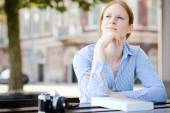 Woman in Thought — Stock Photo
