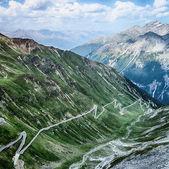 Alpine Road with Hairpins - Stelvio Pass — Stock Photo