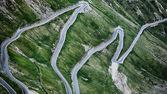 Stelvio Pass - Asphalt Road — Stock Photo