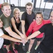 Happy fitness workout team — Stock Photo #52295335