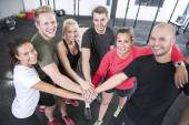 Happy fitness workout team — Stock Photo