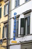 Traditional italian pizzeria in Italy — Stock Photo