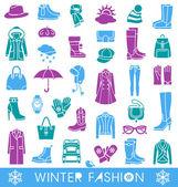 Winter fashion — Stock Vector