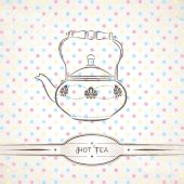 Teapot — Stock Vector