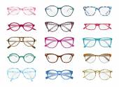 Colorful glasses — Stock Vector