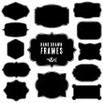 Set of vintage blank frames and labels. — Stock Vector #55088641