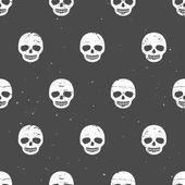 Vintage sugar skulls. Seamless pattern — Stock Vector