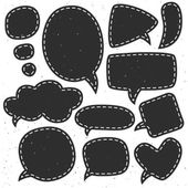 Vintage ink speech bubble composition — Stock Vector