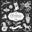 Christmas collection Design elements — Stock Vector #57261025