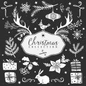 Christmas collection Design elements — Stock Vector