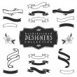 Ink decorative ribbon banners. — Stock Vector #57928709