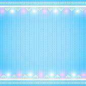 Knitted blue background — Stock Vector