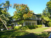 Hemingway house key west — Stockfoto