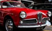 VINTAGE CAR LO ALFA ROMEO GIULIETTA SPINT VELOCE — Stock Photo
