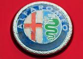 Detail old car ELEMENT ALAFA ROMEO — Stock Photo