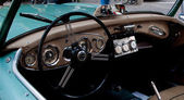 Detail old car steering wheel MERCEDES — Stockfoto