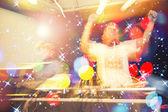 DJ Music night club,music star dj background — Stock Photo