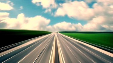 Heavy traffic on highway ,fast cars traveling on the highway ,abstract speed transportation  background — Stock Video