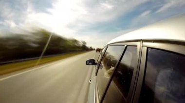 Driving a car. Time Lapse. Summer time. — Stock Video