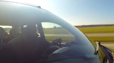 Driving a car. Timelapse. — Stock Video